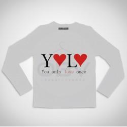 "T-shirt Manga Comprida ""YOLO"""