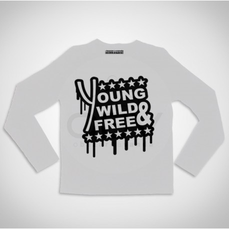 "Long Sleeve T-shirt  ""YOLO"""