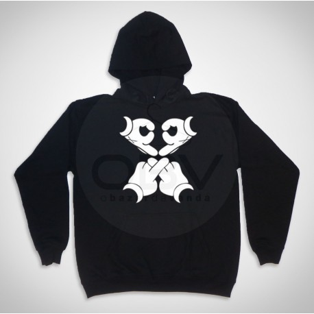 "Hooded  Sweatshirt ""Mouse Skull"""