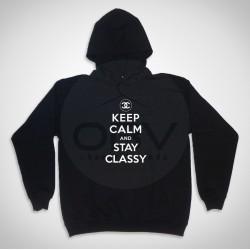 "Sweatshirt Com Capuz ""Stay Classy"""