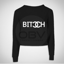 "Crop Sweat ""Bitch"""