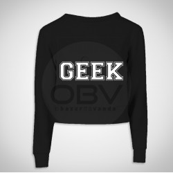 "Crop Sweat ""Geek"""