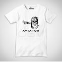 T-Shirt Aviator Vintage Skull