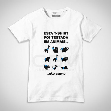 T-Shirt Testada em Animais