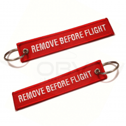 "Pack 5 x ""Remove Before Flight"" Keychain"