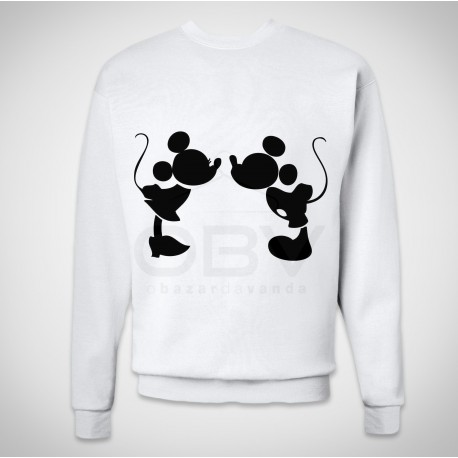 Sweatshirt Mickey e Minnie Kiss