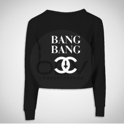 "Crop Sweat ""Bang bang"""