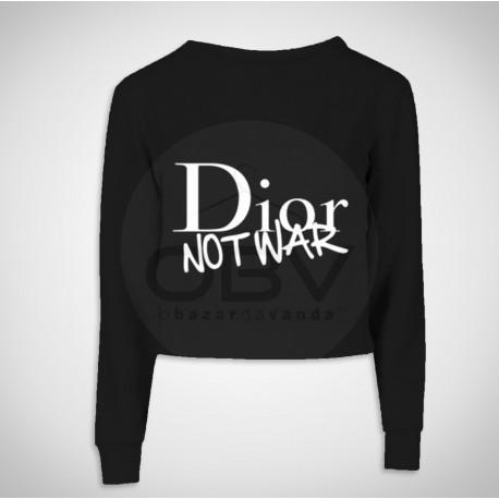 """Crop Sweat """"Dior Not War"""""""