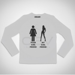 """Long Sleeve T-shirt  """"Young Wild and Free"""""""