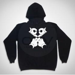 "Hooded  Sweatshirt ""Mouse Skull"""
