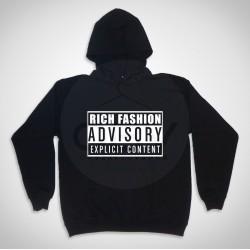 """Hooded  Sweatshirt """"Rich Fashion Advisory"""""""